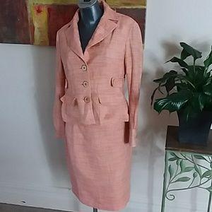 NINE & CO peach skirt w/ blazer matching suit